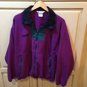Vintage 90s Columbia fleece sweatshirt jacket m